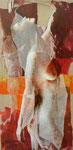 HERA 120 x 60 VENDU tempéra sur monotypes marrouflés sur toile de lin brute