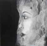 130 x 130 monotype marrouflé sur toile