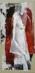 Nephtys 120 x 60 tempéra sur monotypes marrouflés sur toile de lin brute