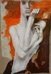 Serena III  55 x 38 tempéra sur monotypes marrouflés sur toile