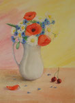 The poppy, watercolor, 23x30cm,2007.