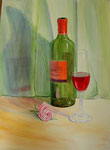 The wine, watercolor, 30x40cm, 2008.