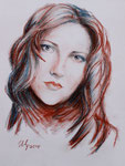 Olga K. Soft pastel. A3.11-2010.