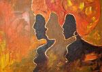 Frauen im Licht, 70 x 50 cm, Preis auf Anfrage