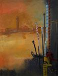 Venezianische Silhouette, 70 x 50 cm, Preis auf Anfrage