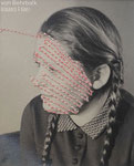 stitched #4, alte Fotografie & Nähgarn,  2013