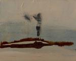 24 x 18 cm, Acryl, Tusche/Moorlauge auf Leinwand