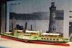 Modell Dampfschiff Lindau, erbaut von R.Fügen; Foto S.Stern