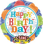 """Sing A Tune """"HB Balloons"""" singt """"Happy Birthday to you""""   - 70cm  € 19,90"""