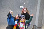 Rainer, Alina und Sarah