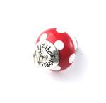 Glückspilzli - Silber kombiniert mit Holzpilz-Perle