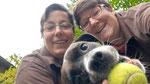 Lissy und Nadine (mit Hella in Flyballrente)