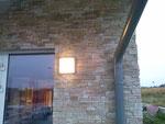 Büro-, Lagerhalle mit Naturstein-Fassade