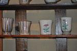 京十草、あざみ(フリーカップ 各¥1,600 焼酎カップ 各¥2,000