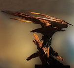 Movimiento interno .  100 x 110 cm.  madera  .   1998