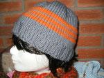 ...einfach und dezent in grau mit orangen Warnstreifen (out)