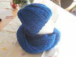Mütze mit passendem Loop, königssblau,  (out)