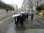 In questa giornata la pioggia è stata incessante. Già dalle prime ore del mattino ci ha accompagnato senza alcuna interruzione.