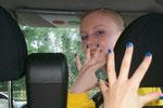 Der gute blaue Nagellack :-)