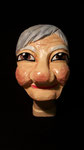 """Marionettenkopf """"Oma"""", farbig gefasst"""