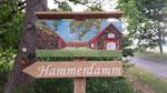 Ansicht Hammerdamm , Eiche, farbig gefasst