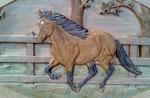 Pferd im Galopp, ca. 40 x 60 cm, Einzelstück ZU VERKAUFEN 450,00 € inkl. MwSt., bei Interesse telefonisch melden.
