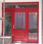Haustür mit Seitenteilen und Oberlicht
