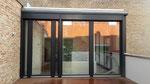 Festverglasung mit Balkontür