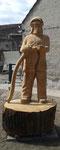 Feuerwehrmann, Lebensgroß, 1,80 m zzgl. Sockel
