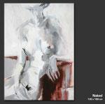 Nude - Gemälde in Acryl