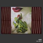 Kiss - Fotografie (Unikat) auf Keilrahmen 120 x 80 cm