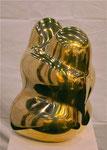 Bronzeskulptur poliert - Umarmung