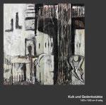 Kult -und Gedenkstätte 2 teilig in Acrylmischtechnik