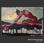 Hasen müssen frei sein - Gemälde in Acryl