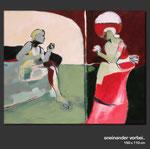 Aneinander vorbei - Gemälde in Acryl