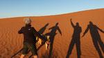 Nos ombres sur le sable
