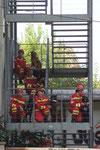 Gruppenfoto nach erfolgreicher Trümmersuche