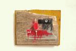 Het rode paardje 30x23cm