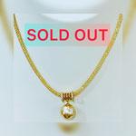 SV南洋ゴールデンパールペンダント P:12×13mm   ネックレス:40cm ¥29,800(税込)