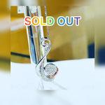 K18WGダイヤペンダント D:0.25ct トップ大きさ:約2.5cm×1.2cm チェーンは45cmスライド式 トップ:¥85,000(税込) チェーン:28,000円(税込)