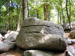 waagerechte Schnitte - mit Steinsägen ausgeführt