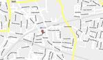 """Kartenansicht von Neusäß; Das """"A"""" beschreibt den Standort der Stadthalle. © google Maps"""
