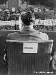 Roma, Maggio 1974 - Giovanni Malagodi alla manifestazione per il divorzio