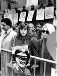 Roma, Novembre 1990 - Nando, Simona e Rita alla manifestazione a Montecitorio contro stragi