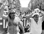 Napoli, Giugno 1990 - Manifestazione Flm