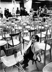 Roma, Dicembre 1975 - Bambini in fabbrica occupata