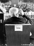 Roma, Maggio 1974 - Giuseppe Saragat  alla manifestazione per il divorzio