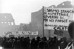 Roma, Febbraio 1976 - Manifestazione terremotati della sicilia
