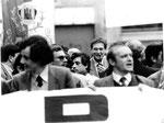 Napoli, Dicembre 1984 - Luciano Lama alla manifestazione Siul