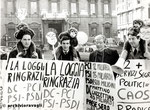 "Roma, Dicembre 1979 - Manifestazione sindacati chimici ""Basilicata regione dimenticata"""